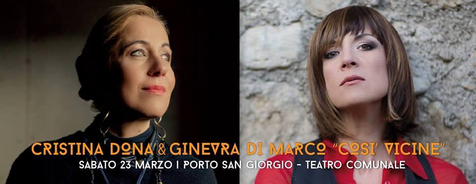 Tam, Cristina Donà e Ginevra di Marco insieme per un concerto unico a Porto San Giorgio