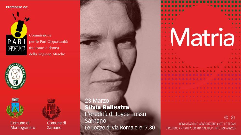 Silvia Ballestra, l'eredità di Joyce Lussu
