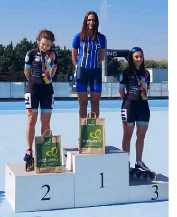 Irene Falaschetti si è laureata campionessa regionale nel pattinaggio corsa