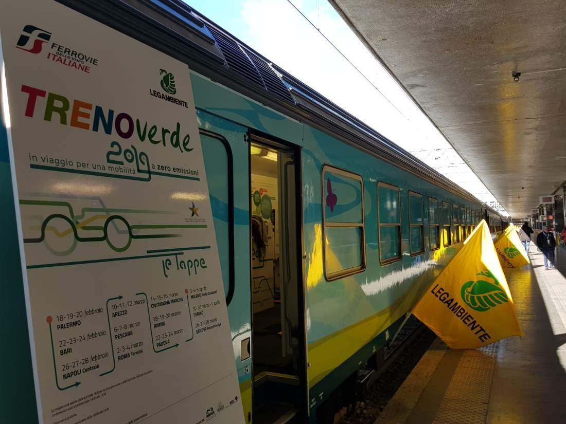 Civitanova, inaugurato il Treno Verde e presentate le buone pratiche della mobilità sostenibile in Regione