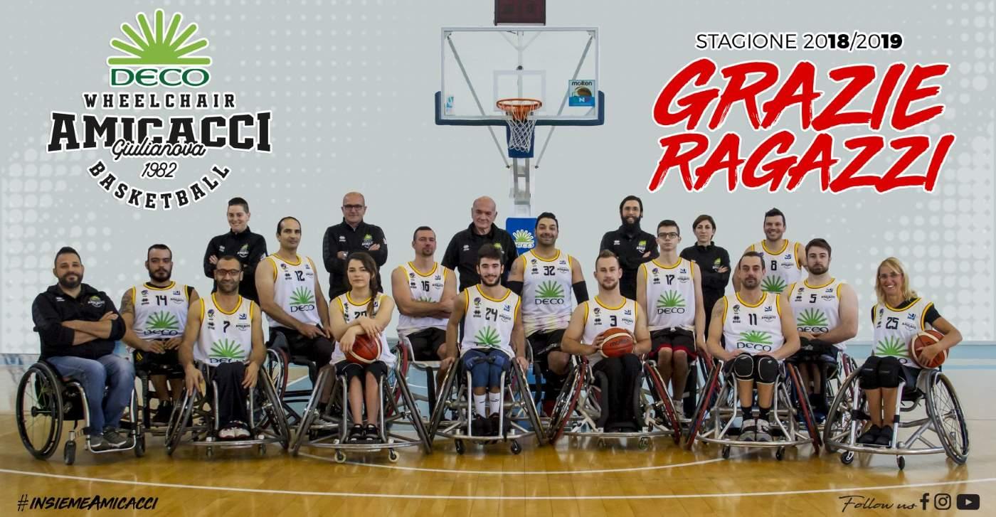 Basket in carrozzina, l'Amicacci sconfitta da Santo stefano saluta i play-off dopo una intensa gara 2