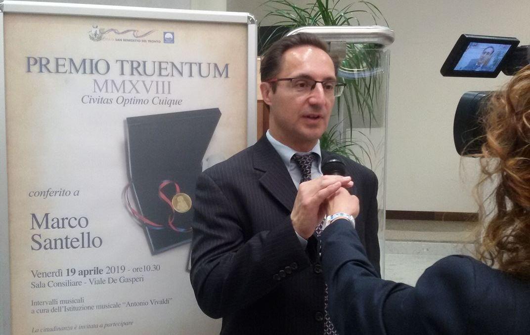Conferito il Premio Truentum a Marco Santello