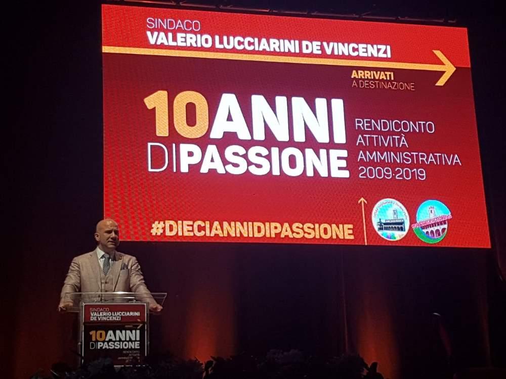 Lucciarini conclude i suoi 10 anni di passione con uno spettacolo