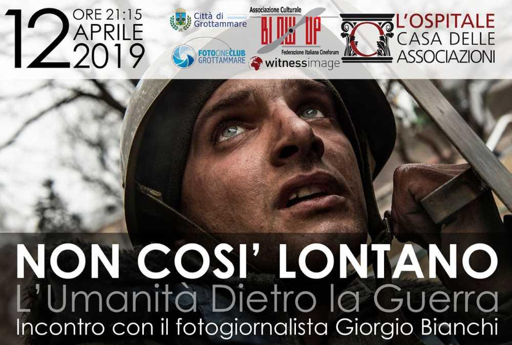 """Giorgio Bianchi, """"L'Umanità dietro la Guerra"""" all'Ospitale"""