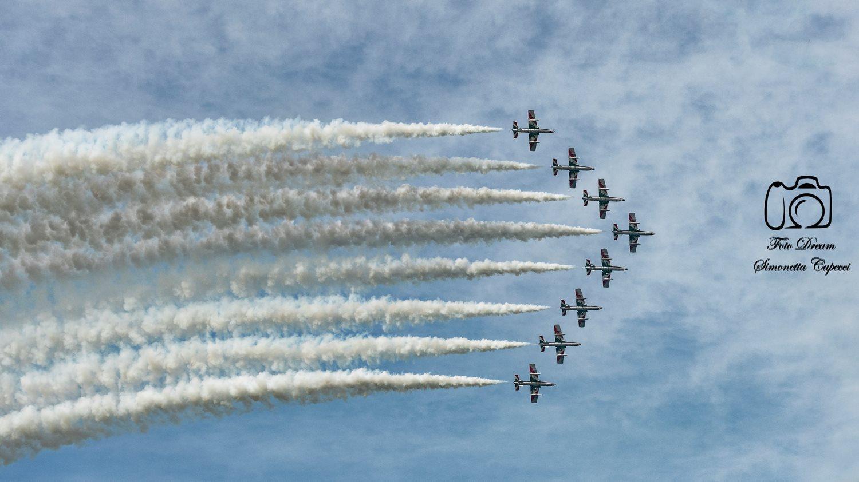 Spettacolo delle Frecce Tricolori in prova per l'Air Show