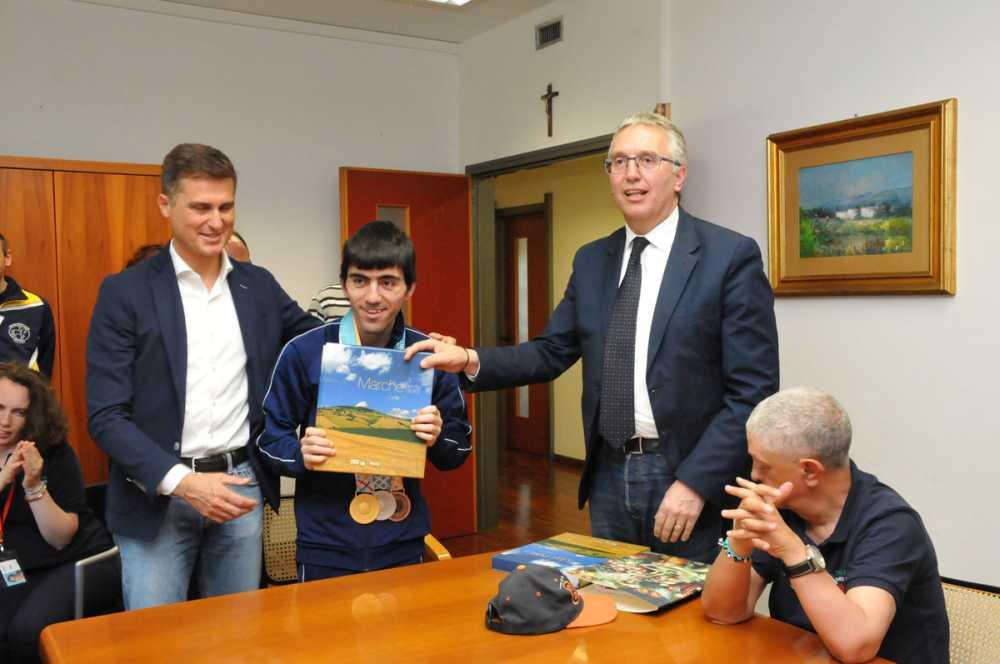 Matteo Maggioli campione del mondo di bocce degli Special OlympicsdiAbu Dhabi