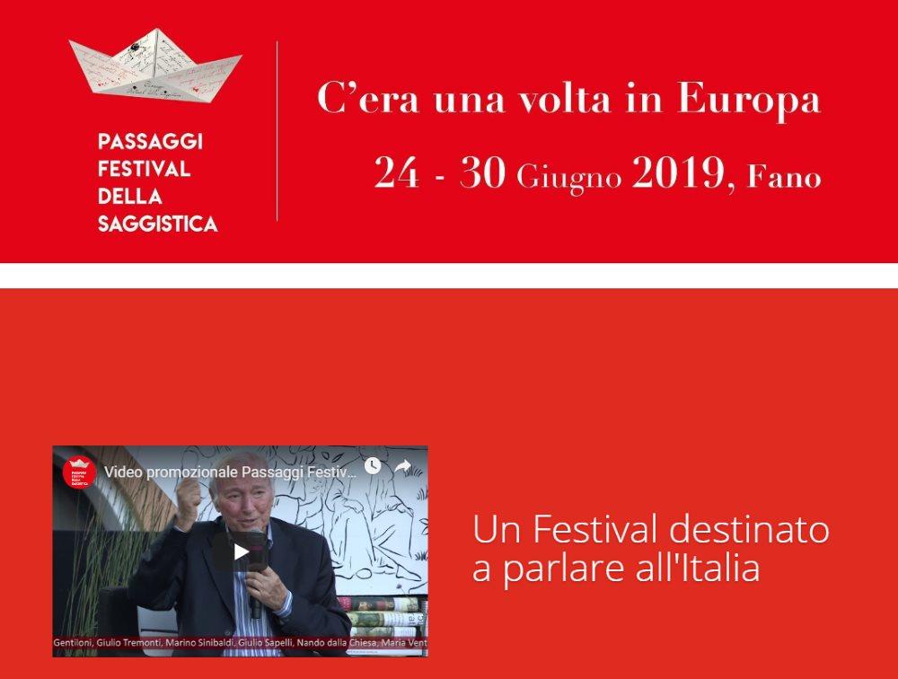 Al via Passaggi Festival 2019