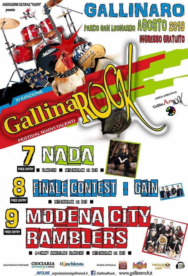 GallinaRock ci siamo: al via con il concertone di Nada