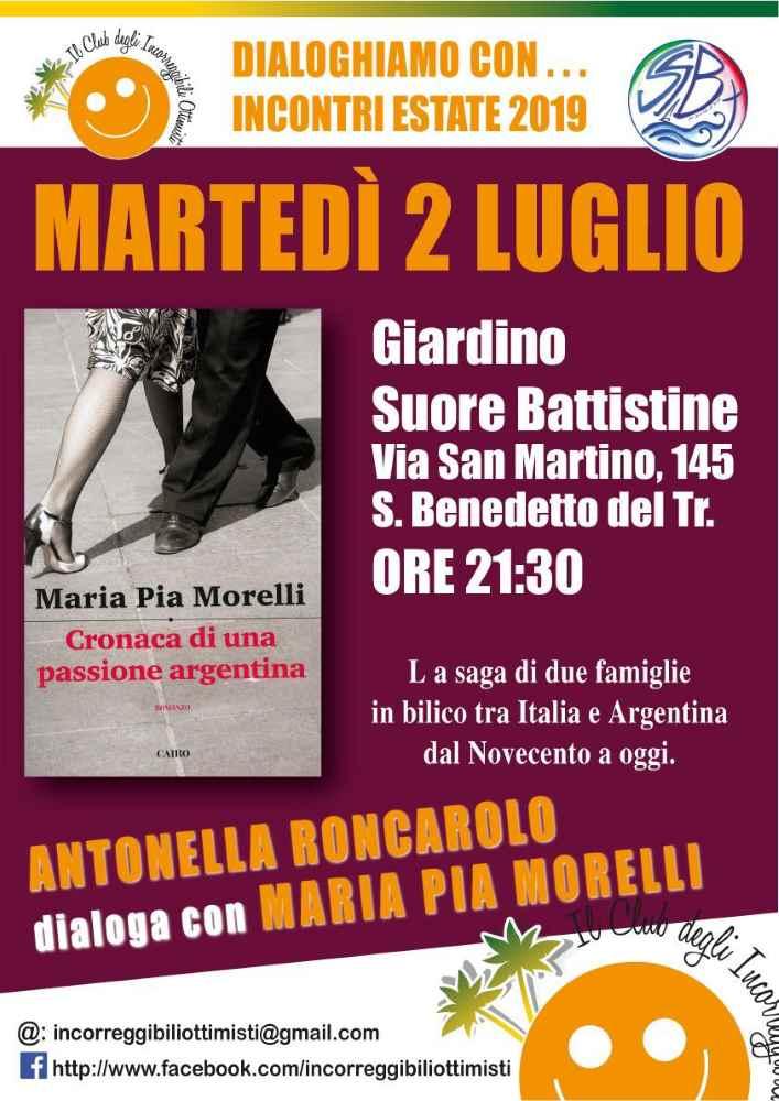 "Maria Pia Morelli, ""Cronaca di una passione argentina"""