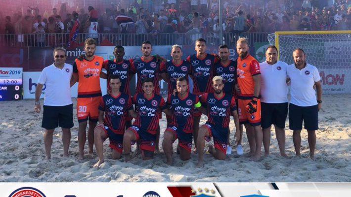 Beach Soccer serie Aon, la Samb batte anche gli eterni rivali del Catania