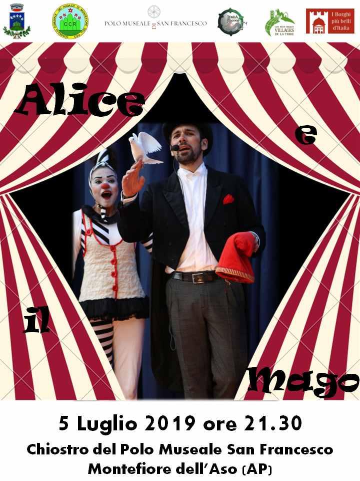 """Il Teatro in Piazza, """"Alice e il mago"""" a Montefiore"""