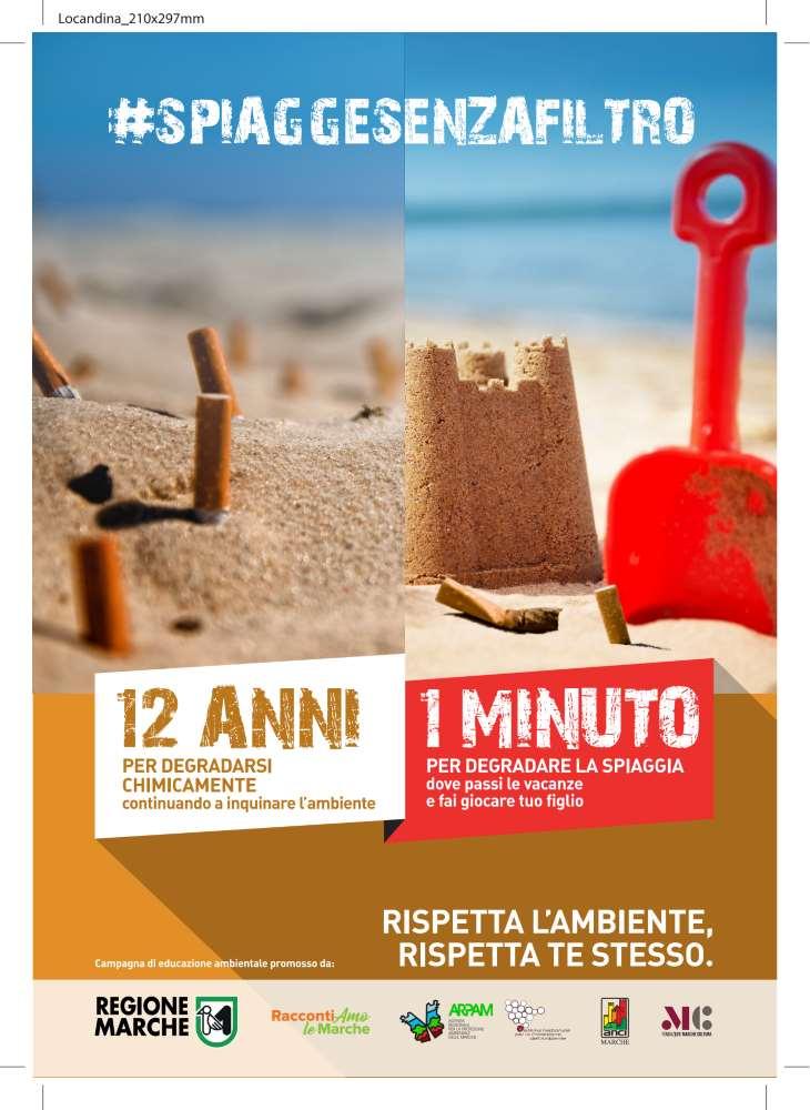 """Spiagge senza filtro, """"12 anni per degradarsi, 1 minuto per degradare la spiaggia"""""""