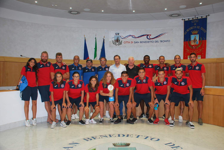 In Comune campioni e campionesse del beach soccer