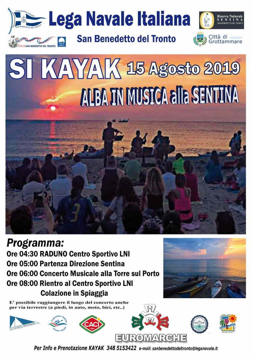 Si Kajak – Alba in Musica (spostato al 16 agosto alla stessa ora)