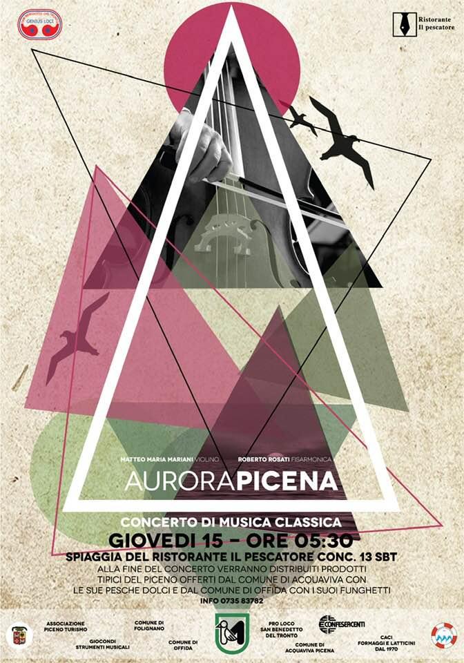 """Torna la """"classica"""" Aurora Picena, 8° Concerto all'Alba sulla spiaggia"""