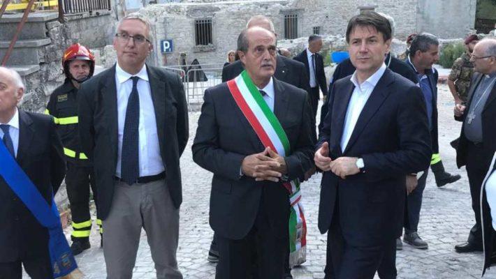 Luca Ceriscioli incontra il presidente Giuseppe Conte a Castelsantangelo sul Nera e ribadisce le richieste delle Marche