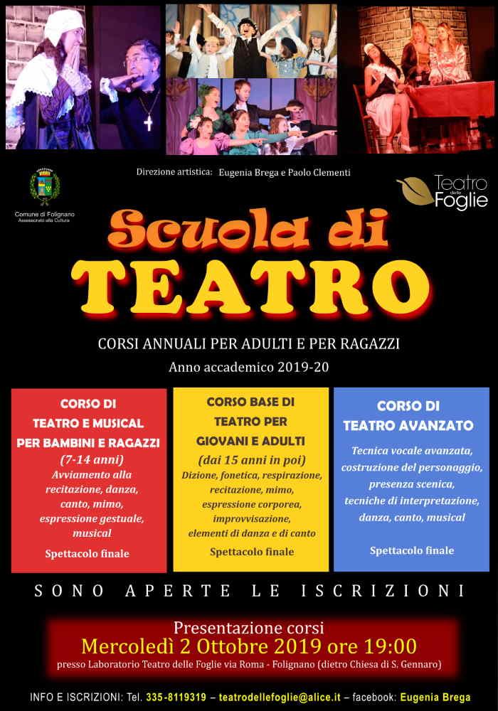 Riapertura Scuola di Teatro di Folignano