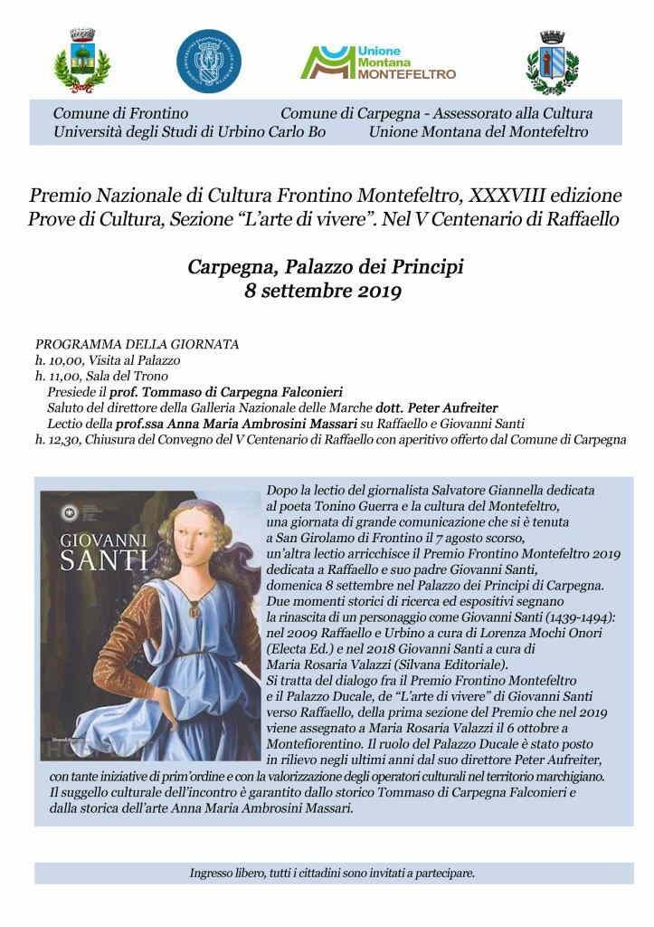 Raffaello e Giovanni Santi fra Palazzo Ducale e Montefeltro