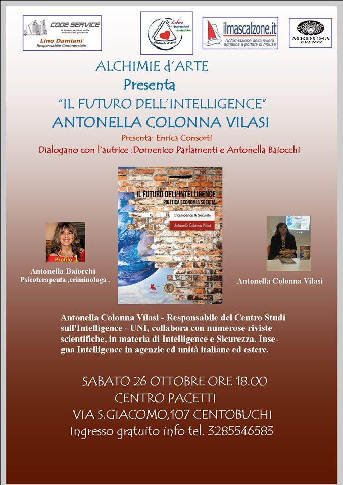 """Antonella Colonna Vilasi, """"Il futuro dell'Intelligence"""" al Centro Pacetti"""