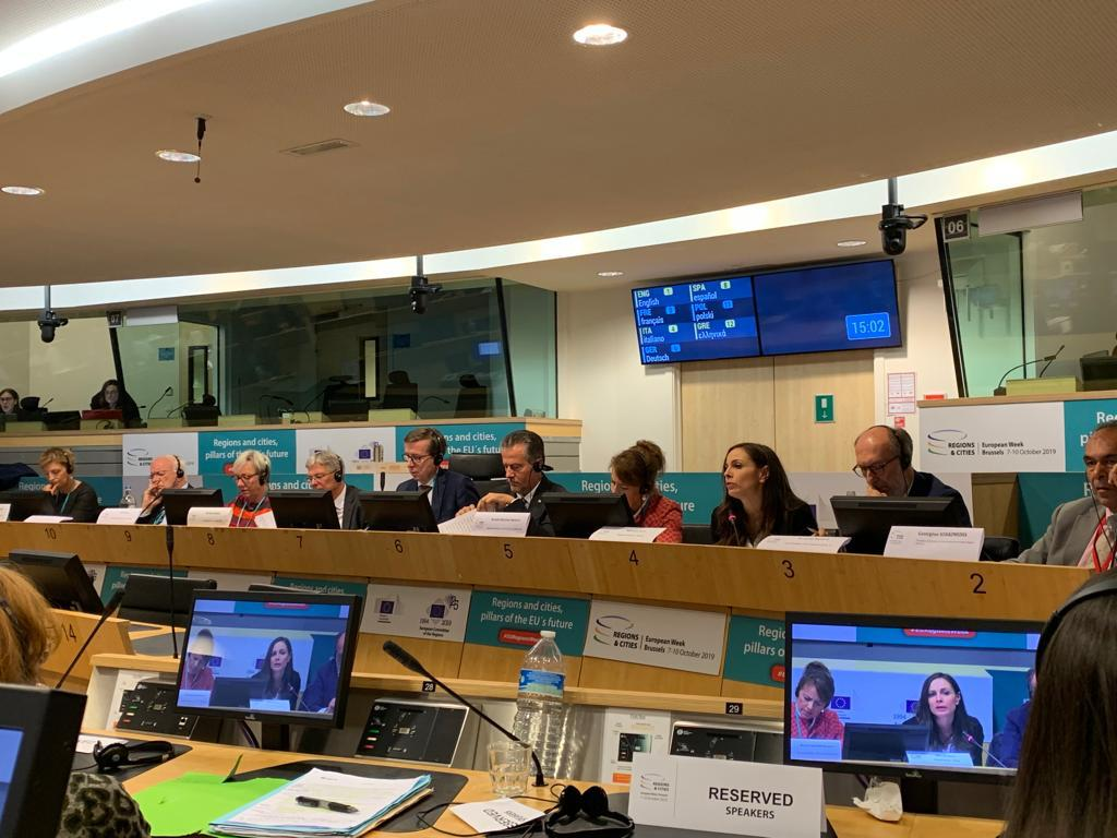 L'assessora Bora a Bruxelles per la Settimana europea delle regioni e delle città