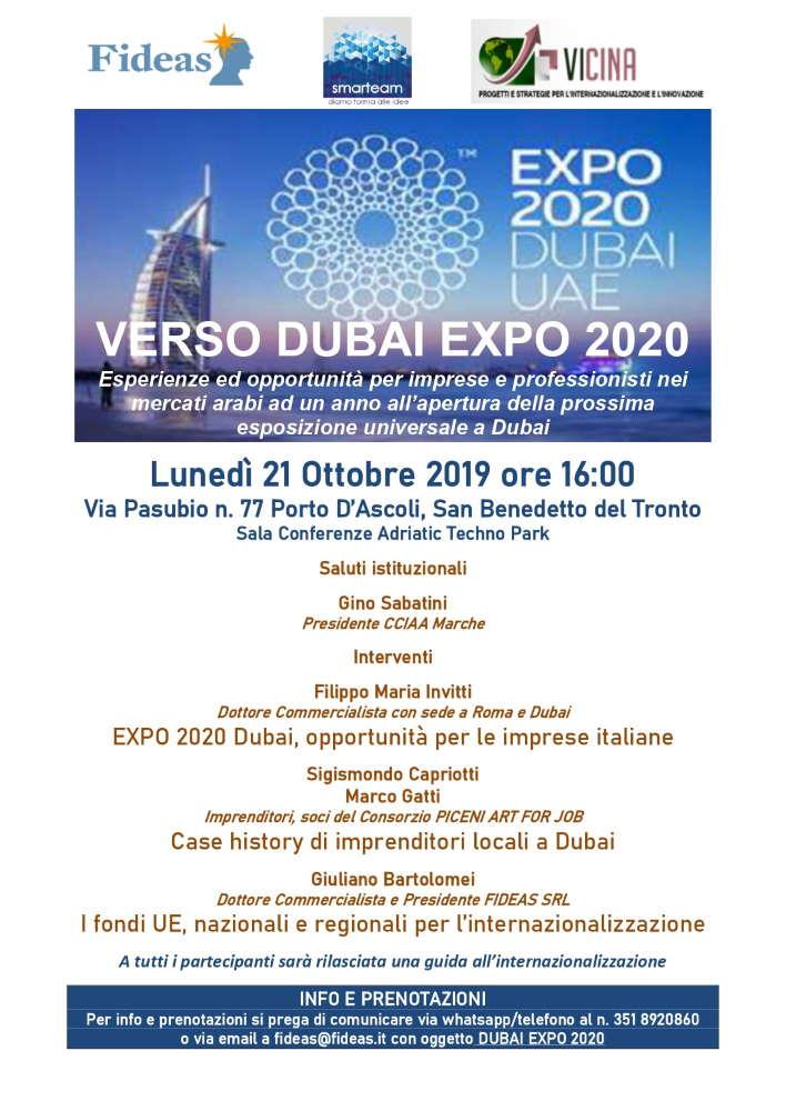 Verso Dubai Expo 2020
