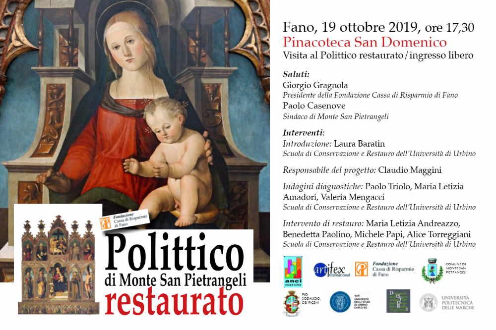 UniUrb, a Fano il restauro del Polittico di Monte San Pietrangelimani
