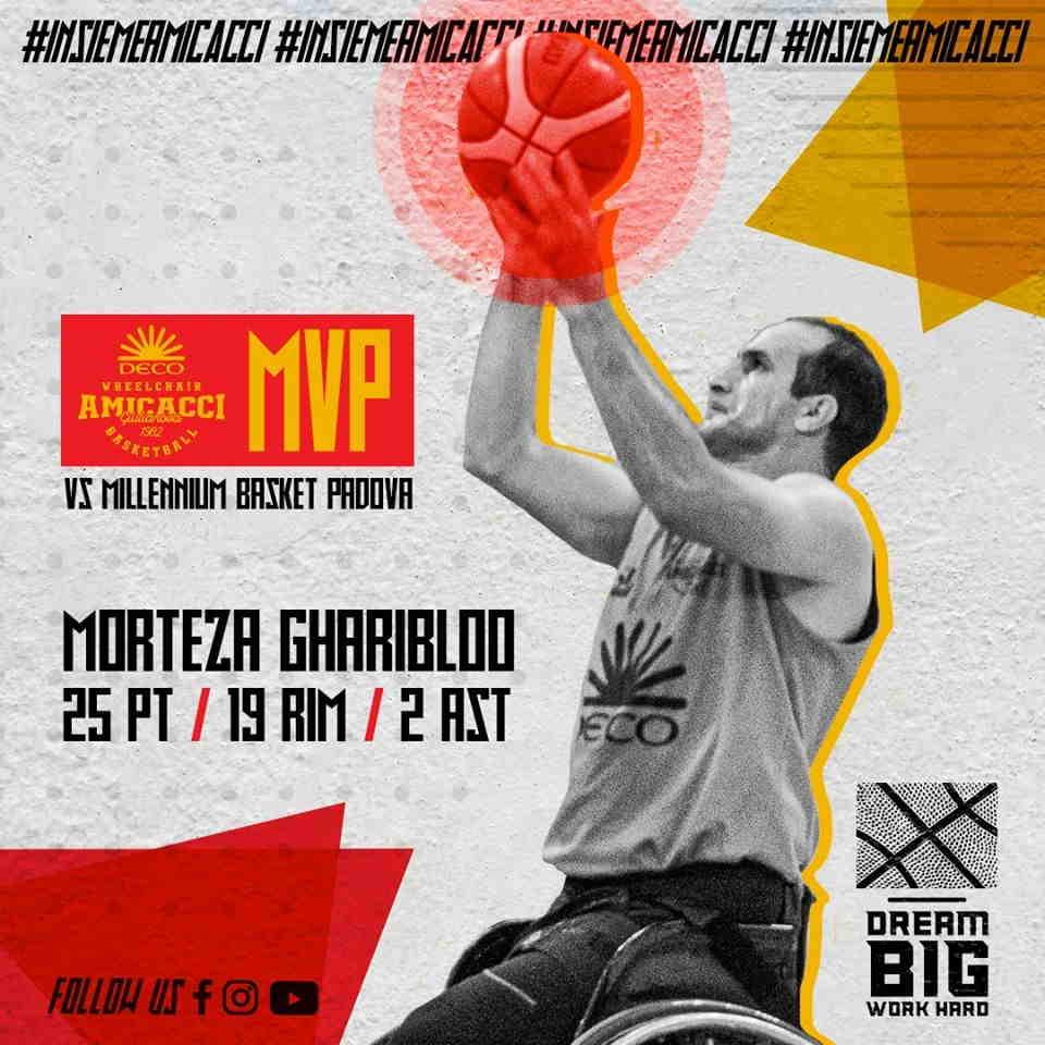 Basket in carrozzina, l'Amicacci espugna Padova