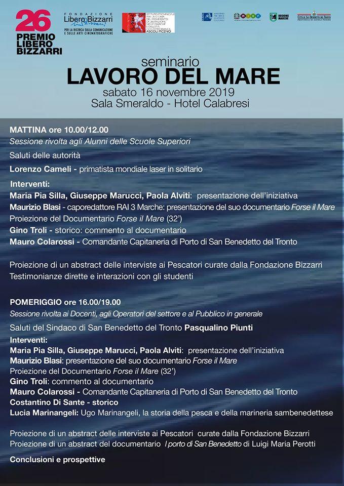 """Il """"Lavoro del mare"""" al Premio Bizzarri"""