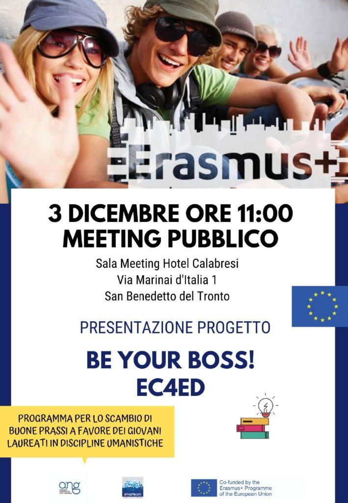 Be Your Boss! Progetto Europeo coordinato da Smarteam in cooperazione transnazionale