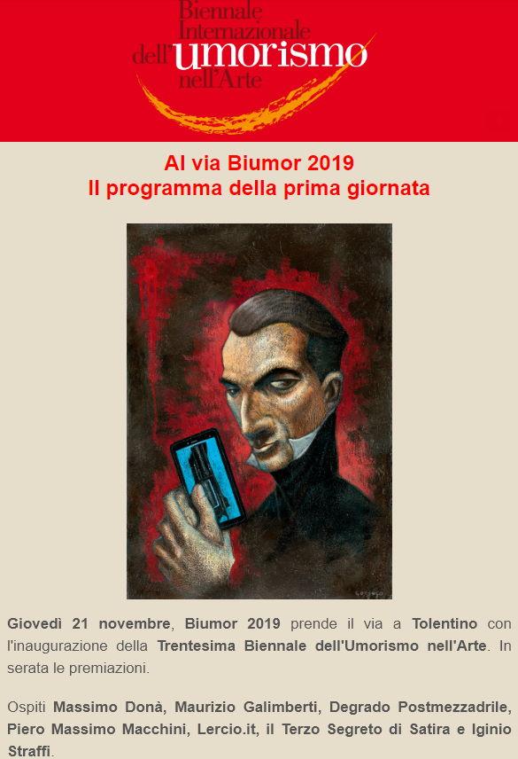 Al via Biumor, 30ma Biennale dell'Umorismo nell'Arte