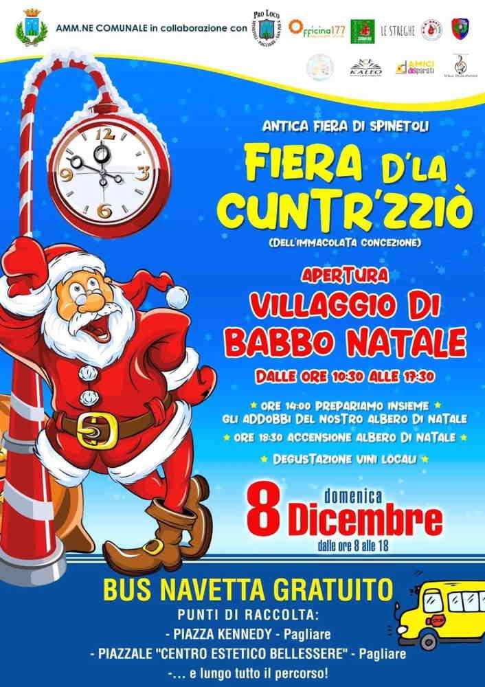 La Fiera D'La Cuntr'zzio' con il Villaggio di Babbo Natale