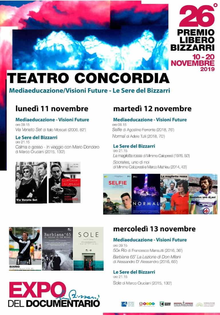 Premio Libero Bizzarri, programma di lunedi