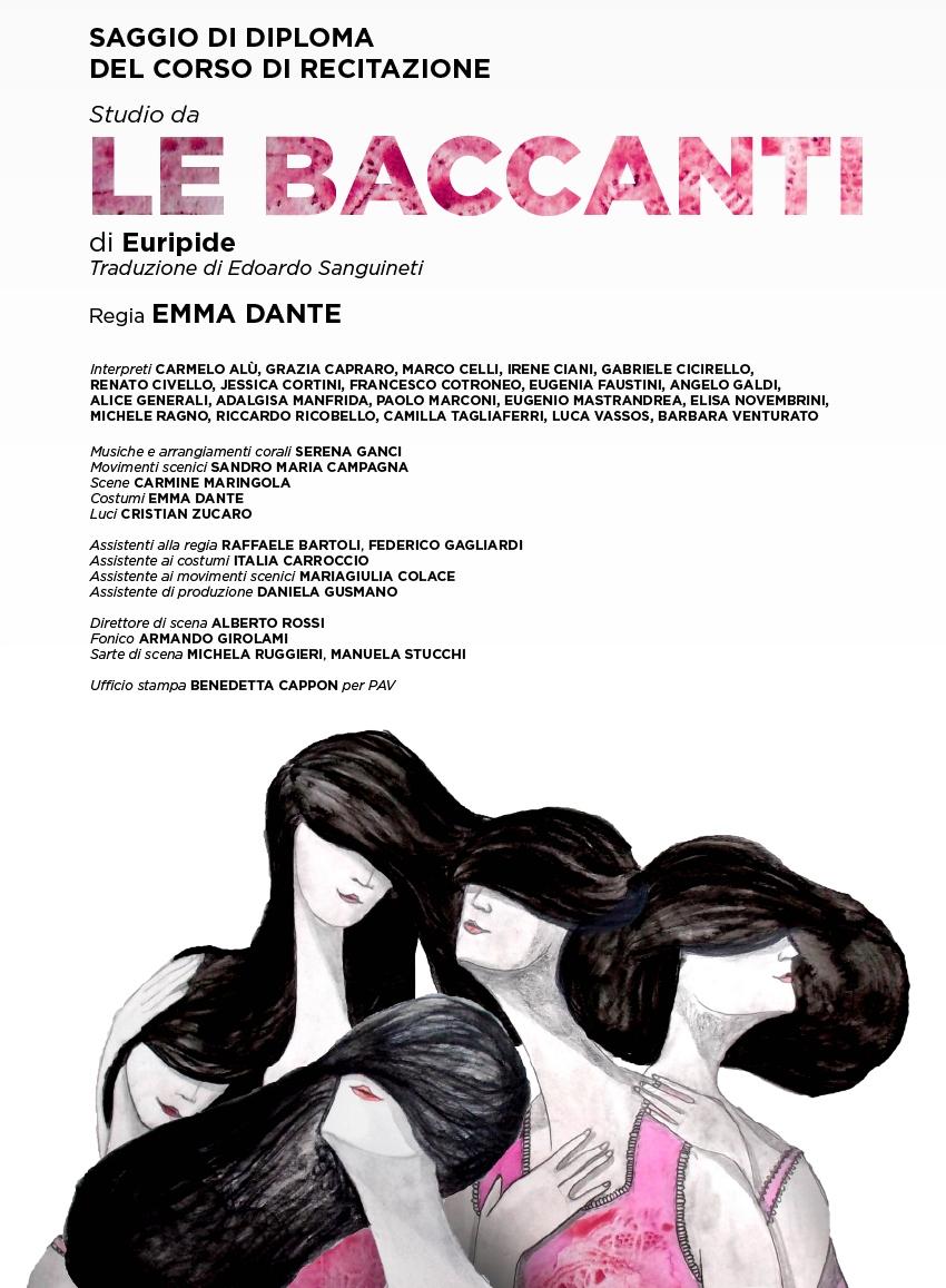 """San Benedetto, domani e dopodomani """"Le baccanti"""" di Emma Dante al Concordia"""