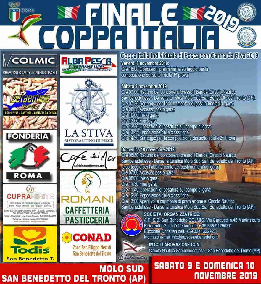 Pesca con canna da riva, finale Coppa Italia al Molo Sud
