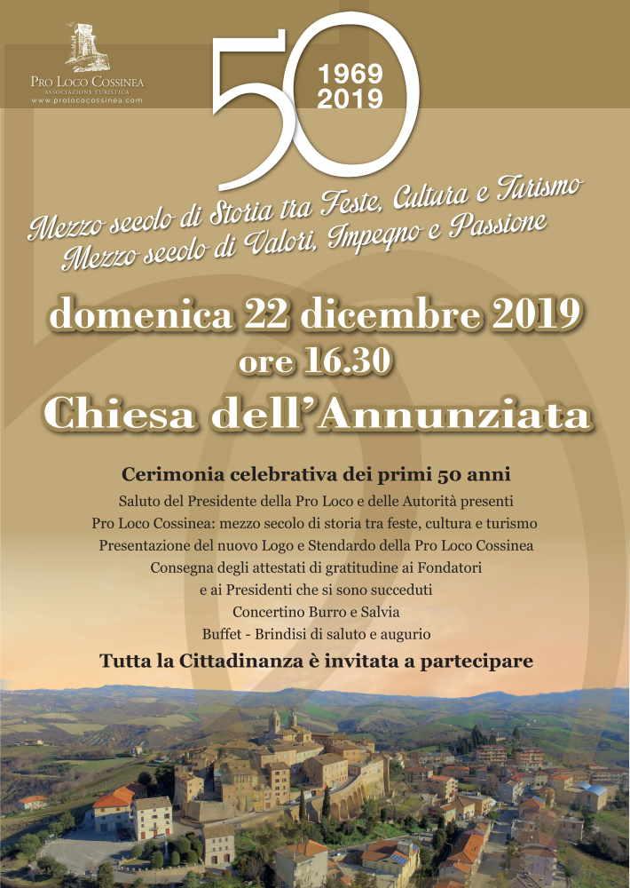 Pro Loco Cossinea: mezzo secolo di storia