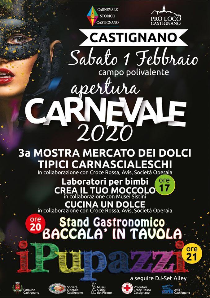 Apertura del Carnevale storico di Castignano