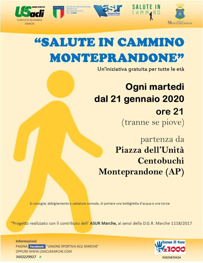 """Riprende """"Salute in cammino"""" a Monteprandone"""