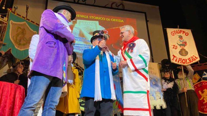 Carnevale, le chiavi della Città di Offida alla Congrega del Gancio