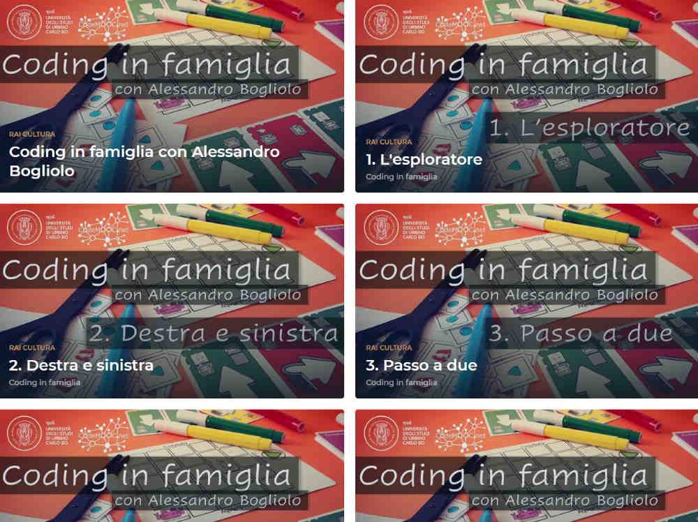 """Ogni giorno il """"Coding in famiglia"""" di UniUrb sui canali di Rai Cultura"""