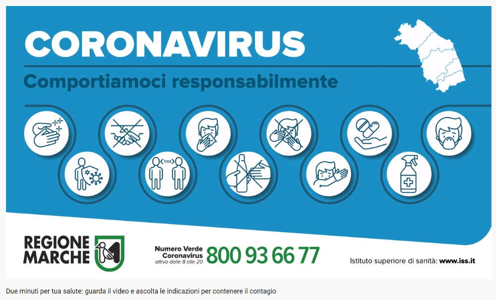 Coronavirus Marche, aggiornamento delle ore 10