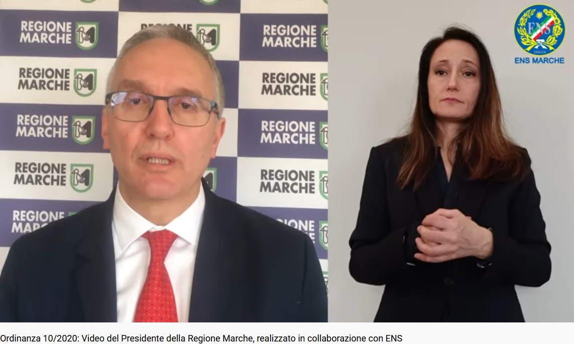Ordinanza 10/2020: il video del Presidente della Regione Marche realizzato in collaborazione con Ens