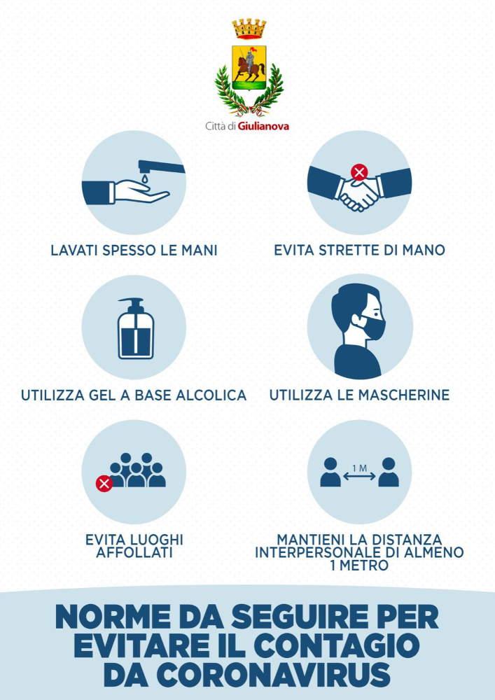 Il vademecum realizzato dal Comune di Giulianova con tutte le norme anti-contagio