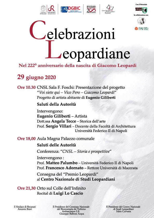 Al via le Celebrazioni Leopardiane