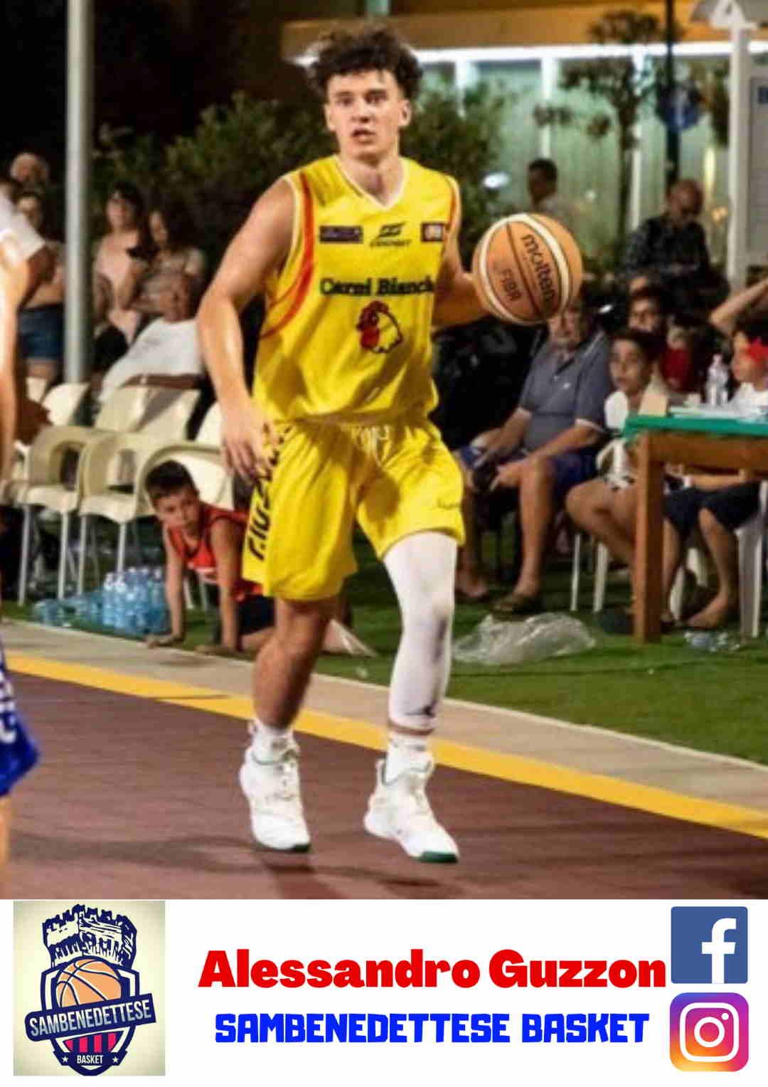 Terzo colpo di mercato per la Samb Basket che firma la guardia tiratrice Alessandro Guzzon