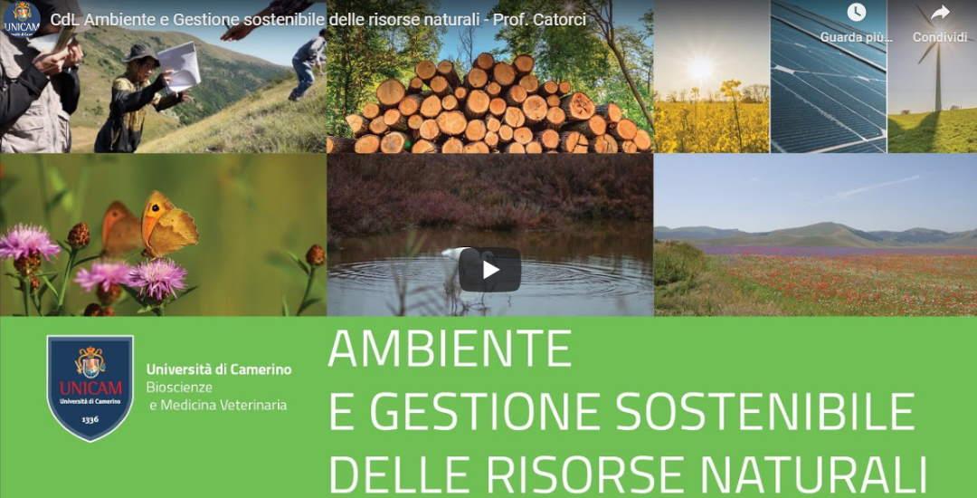 """Importante risultato della ricerca UniCam nell'ambito del nuovo corso di laurea in """"Ambiente e Gestione sostenibile delle risorse naturali"""""""