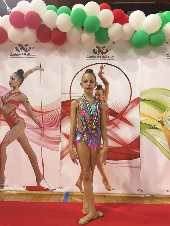 Ginevra Giacco, spicca il volo la giovane ginnasta della Asd Fantasy