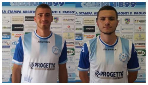 Andrea Carminucci e MichaelTanzi al Grottammare Calcio