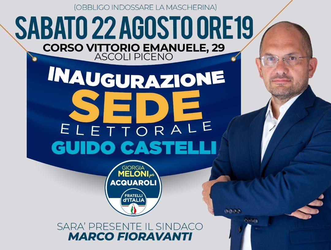 Guido Castelli inaugura la sede Elettorale