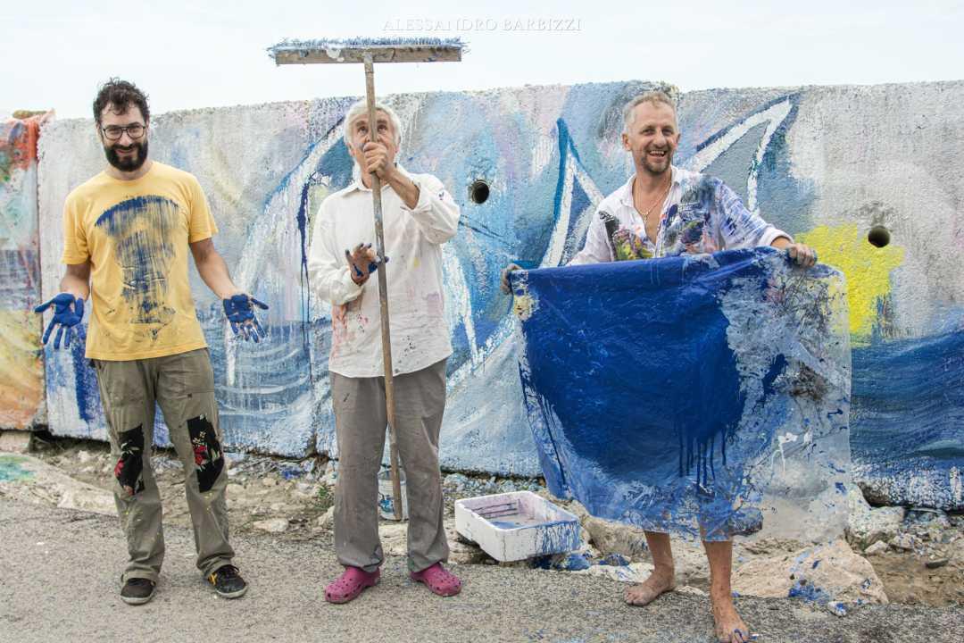 """è """"Action Painting"""" @ Molo Sud (video interviste)"""