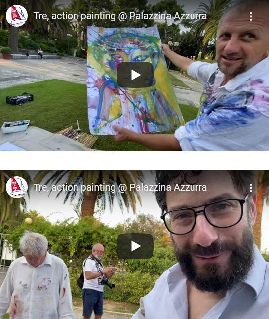 Pio Serafini, Stefano Tamburrini, Genti Tavanxhiu: Art performance @ Palazzina Azzurra (video)